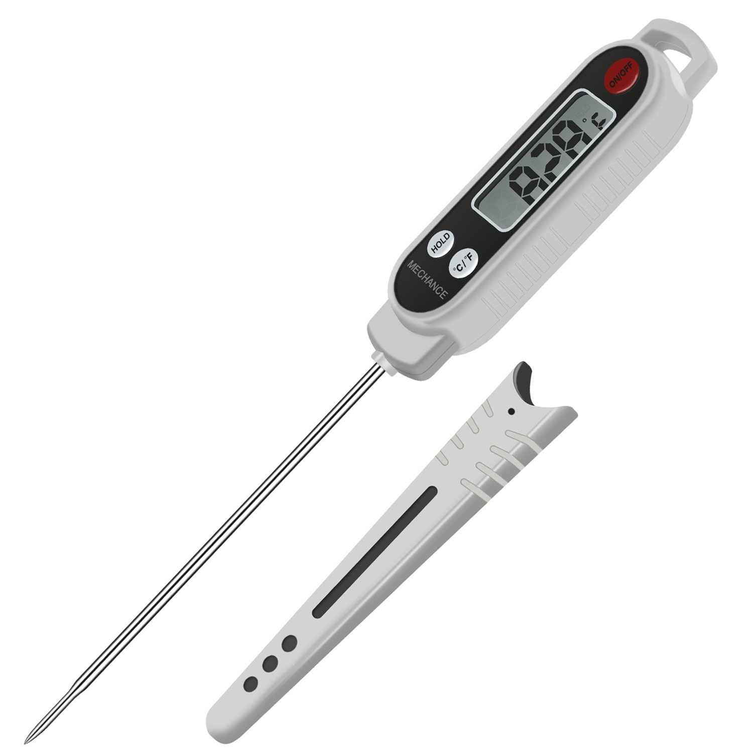 Meat Thermometer, Mechance Instant Read Thermometer BBQ Thermometer Grill Thermometer Food Thermometer with Long Probe for Kitchen Cooking Grilling Smoker Fry Steak Meat Candy Milk Oil Liquid