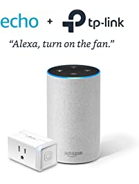 Echo (2nd Generation) - Sandstone with TP-Link Smart Plug Mini