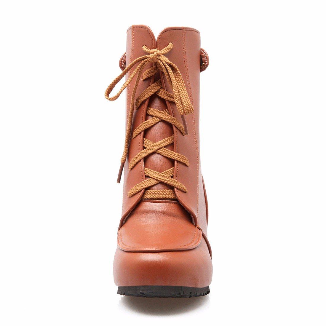RFF-Damens's Schuhes Kurzen Vorderen Riegel mit Leichten Teig Teig Leichten Mode Martin Stiefel Schuhe Yellow 2ba4c9