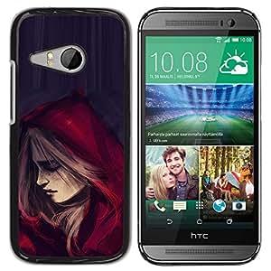 For HTC ONE MINI 2 / M8 MINI Case , Riding Hood Cape Fashion Woman - Diseño Patrón Teléfono Caso Cubierta Case Bumper Duro Protección Case Cover Funda