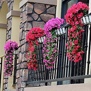 Violet Artificial Decoration Simulation Valentine's Day Wedding Wall Hanging Basket Flower Orchid Silk Fake Flower 102