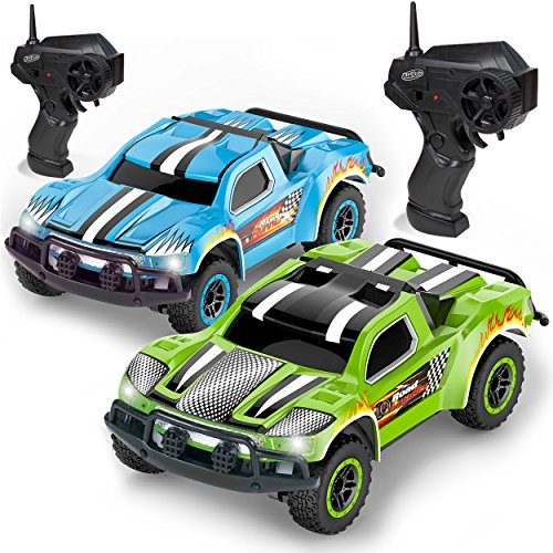 Remote Control Car – 2 Mini Racing Coupe Cars – With Rechargeable Batteries and Wall Chargers
