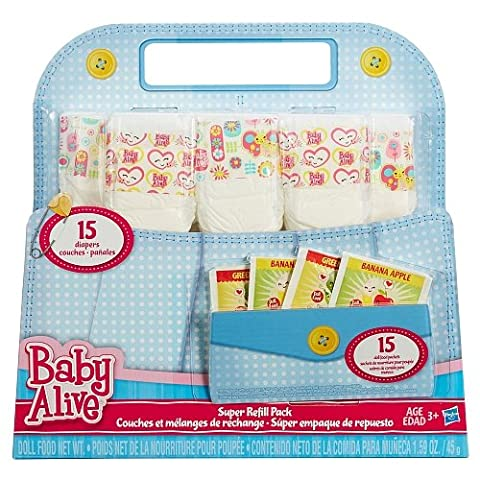 Baby Alive Doll Food and Diapers Super Refill Pack - 30 pieces - Shop Baby Accessories
