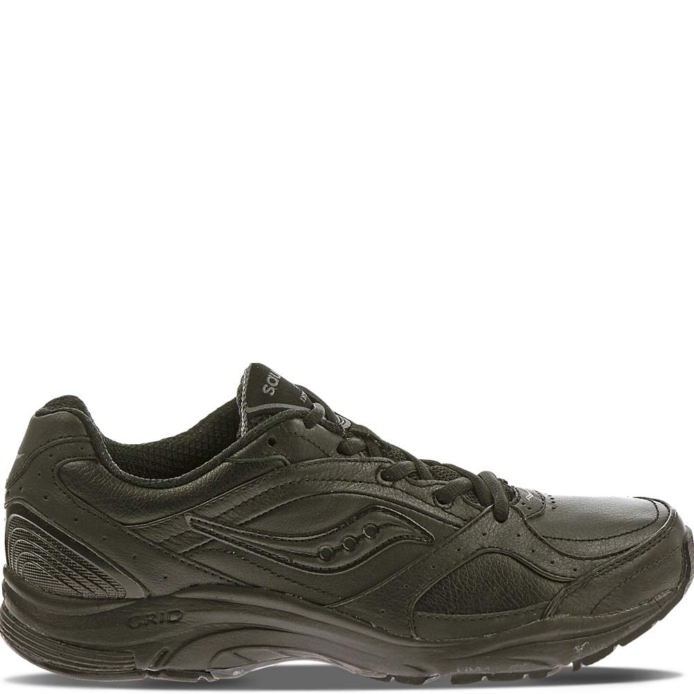 Saucony Womens ProGrid Integrity ST2 Walking Shoe,Black//Grey,8 2E US