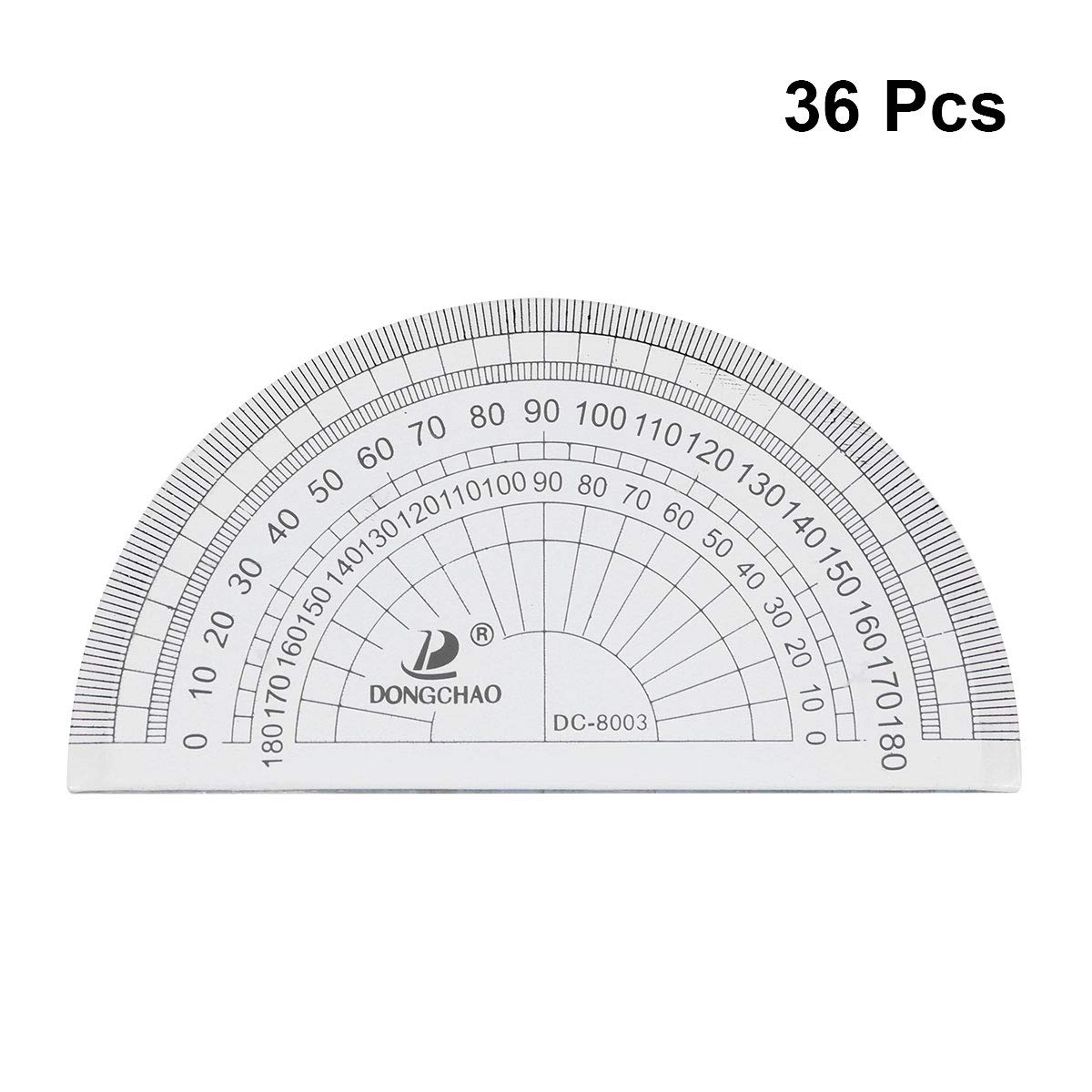 NUOBESTY 36pcs Plastic Protractor Math Protractor 180 Degrees Protractor for Angle Measurement Student School Office Supply by NUOBESTY (Image #1)