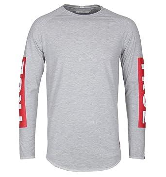 30df65b5aa True Religion Grey Marl Baseball Sleeve Tee: Amazon.co.uk: Clothing