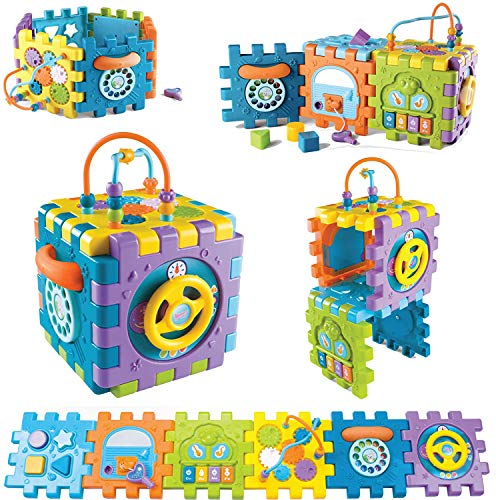 Tippi 6 in 1 Baby & Toddler Activity Cube – Musical Activity Play Centre Toy For 12 Months Old Boy or Girl – Multi Game…