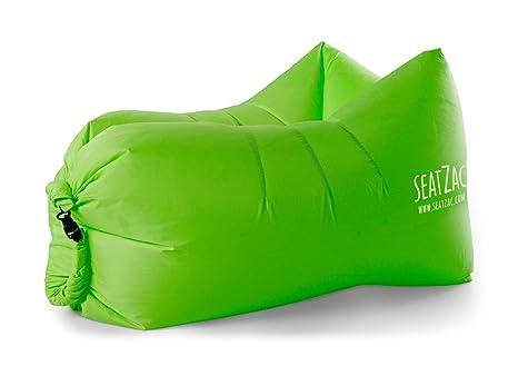 SeatZac SZ00004 Verde Interior y Exterior Rectángulo Silla Puff - Sillas Puff (Verde, Poliéster