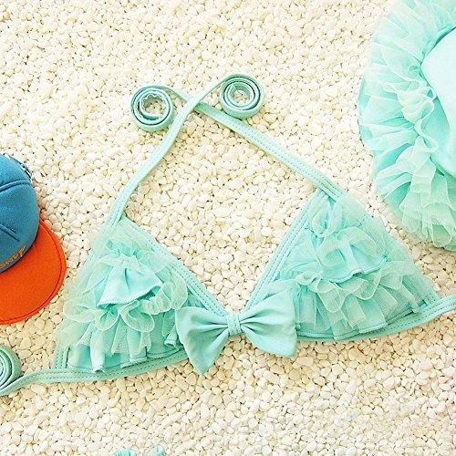 hibote Traje de los cabritos del cord¨®n de Nataci¨®n del bikin¨ª de las tres piezas traje de bano de los beb¨¦s del Bowknot del traje de bano de bano Bikinis C23