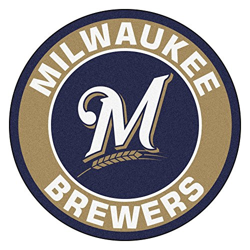 Milwaukee Brewers Rug (FANMATS 18141 MLB Milwaukee Brewers Roundel Mat)