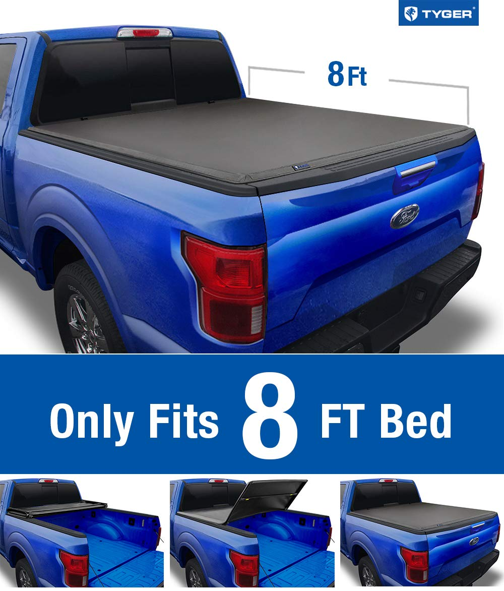 Styleside 8 Bed Tyger Auto T1 Roll Up Truck Bed Tonneau Cover TG-BC1F9028 Works with 1999-2016 Ford F-250 F-350 F-450 Super Duty