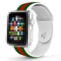J&Z Apple iWatch cinturino da polso Gucci silice sport Apple iWatch 42 mm 38 mm sport iWatch cinghia per uomini e donne bande di iWatch 42 mm Series 2