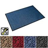 casa pura Anti-Static Entrance Mat | Indoor and Outdoor Front Door Mat | Entry Rug for Home and Business | Blue | 16'' x 30''