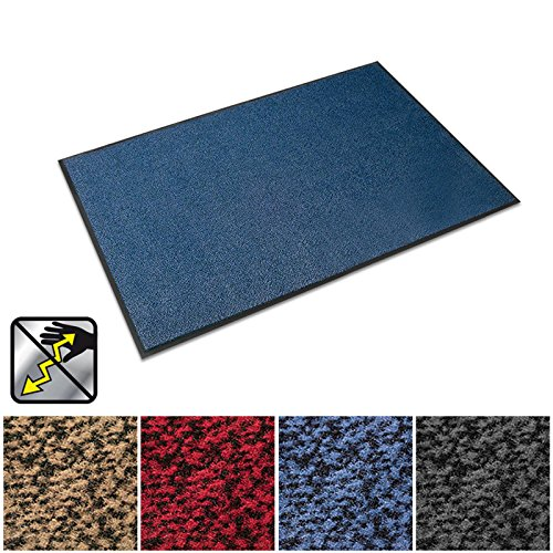 Heavy Duty Rubber Mats Nitrile (casa pura Anti-Static Entrance Mat | Indoor and Outdoor Front Door Mat | Entry Rug for Home and Business | Blue | 36