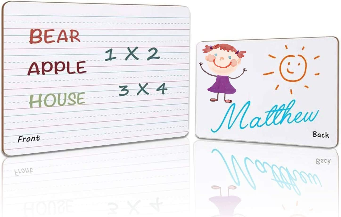 Dry Erase Learning Board Double Sided Ruled Blank Homeschooling WFH Sealed