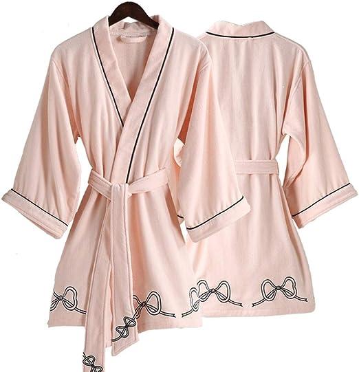 Bata de baño, Batas de quimono Absorbente de algodón Corto para ...