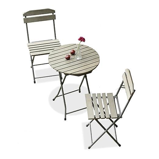 XXHDYR Balcón Muebles De Tres Piezas Mini Combinación Jardín ...