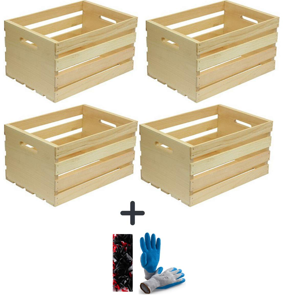Set of 3 Houseworks 67140 18 Lx12.5 Wx9.5 H Large Crates /& Pallet Wood Crate