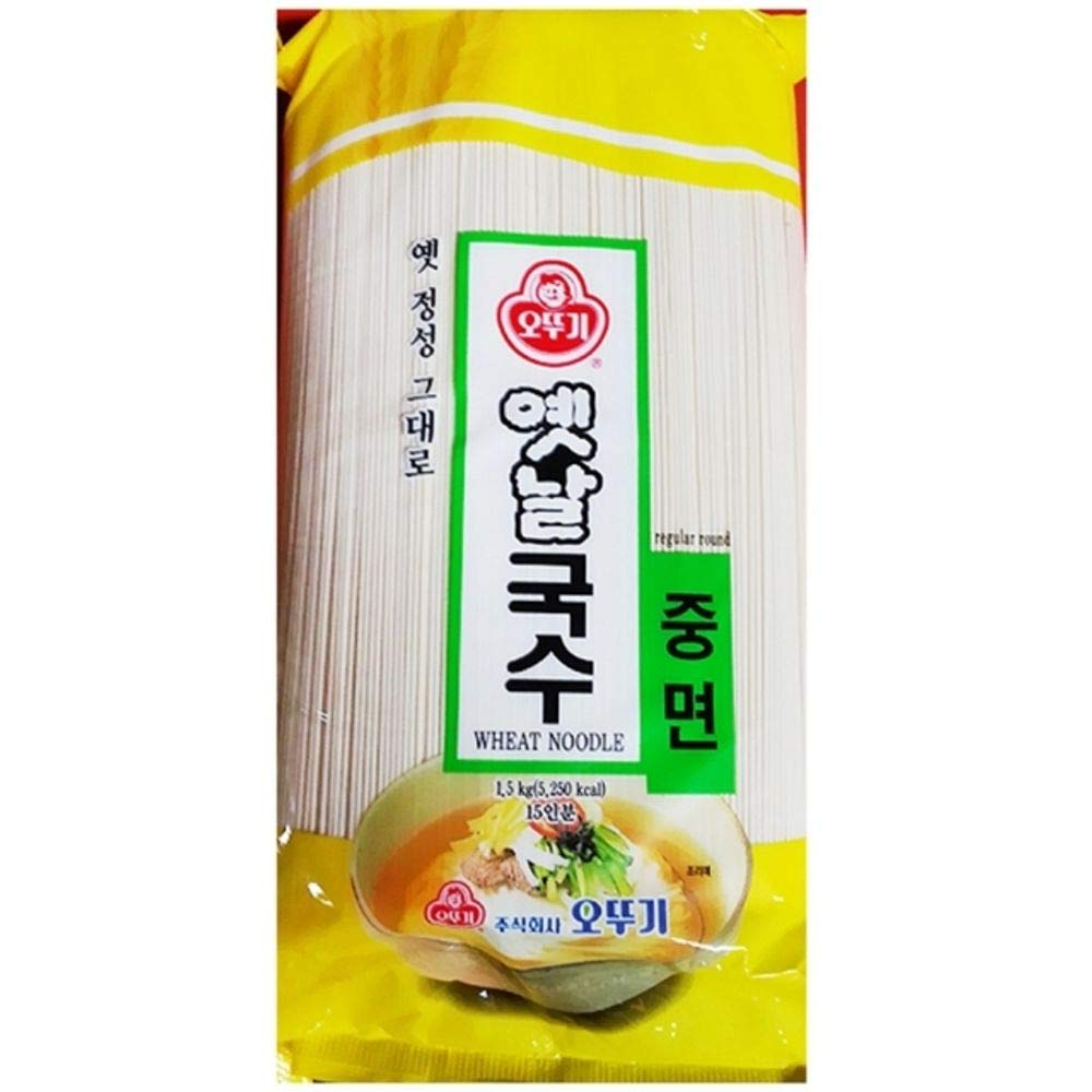 Ottogi Somen Noodles 1.5kg(Middle Thinness) 잔치국수, Product of Korea