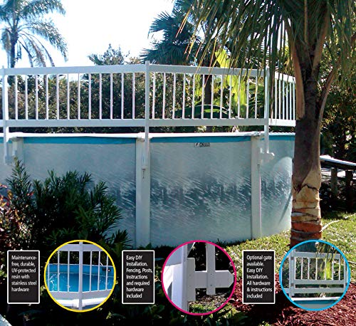 - SmartPool EST145 Above Ground Pool Safety Fence Base kit A, White, Large