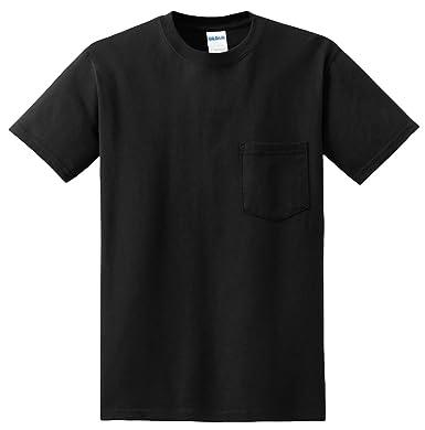 064ac41e1d5c Image Unavailable. Image not available for. Color: Gildan Mens DryBlend 5.6  Oz. 50/50 Pocket T-Shirt(G830)