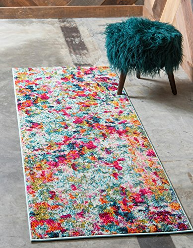 - Unique Loom Chromatic Collection Modern Abstract Colorful Kids Multi Runner Rug (2' 2 x 6' 0)