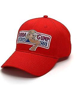 AMOYER Béisbol Ajustable Del Casquillo De Bubba Gump Shrimp Bordados Snapback Deportes Sombrero De Sun (Rojo)