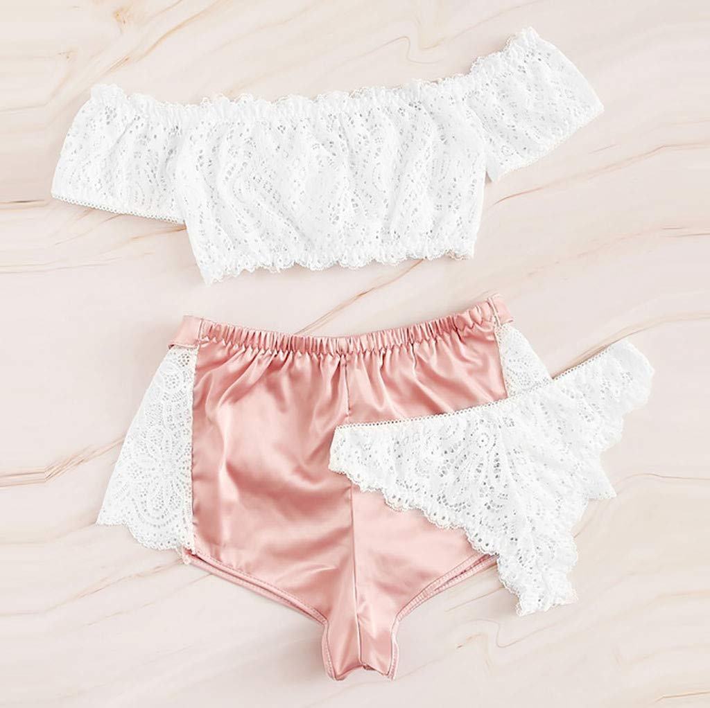 Creamy White Polyester See Through Ladies Frilly Panties Size UK8-20 Briefs
