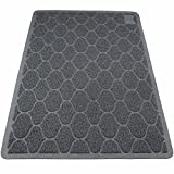 BeMiracle Cat Litter Mat Litter Trapping - 35''x23'' Kitty XL Litter Mat for Pet Scatter Control, Traps Messes, Easy Clean, Grey