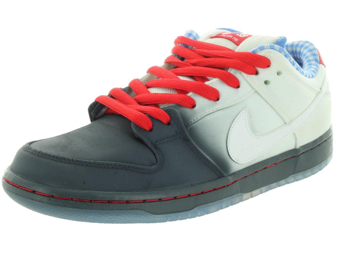 NIKE Men's Dunk Low Premium SB Dk Magenta Grey/White/University Red Skate Shoe 10.5