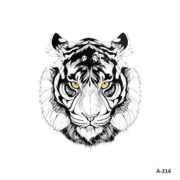 d518d1e2b323e Amazon.com : WYUEN 5 Sheets Watercolor Tiger Temporary Tattoo Sticker Fake  Waterproof Tattoo For Women Men Body Art 9.8X6cm (FA-214) : Beauty