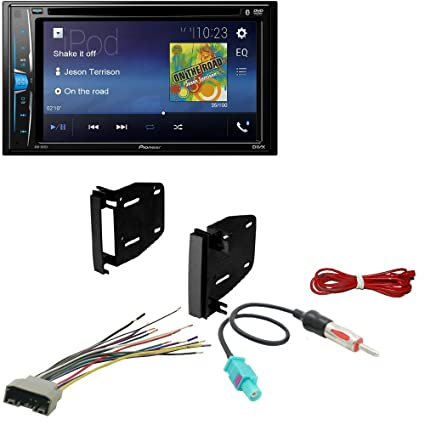 Stupendous Amazon Com Pioneer Double 2 Din Avh 200Ex Dvd Mp3 Cd Player 6 2 Wiring 101 Eattedownsetwise Assnl