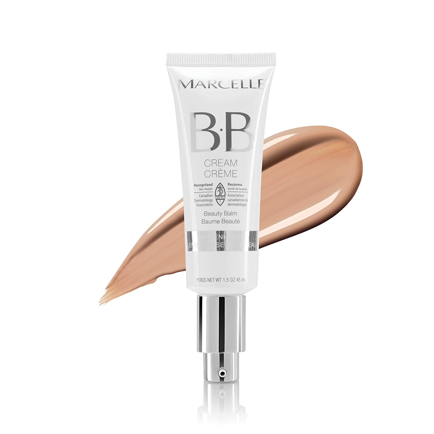 Marcelle BB Cream Beauty Balm, Medium, Hypoallergenic and Fragrance-Free, 1;5 Ounces