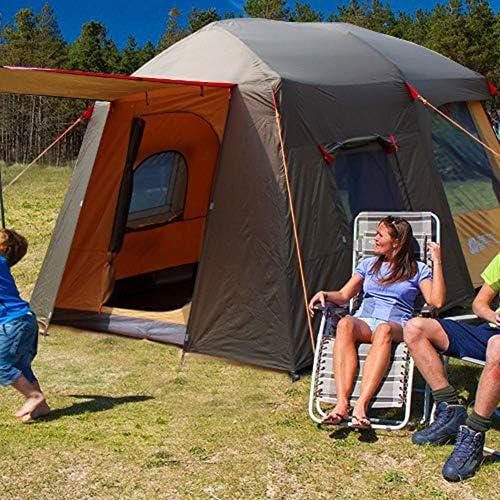 Ye Wang Tipi Camping Zelt 8 Personen über zusammenklappbar wasserdichte Tipi Outdoor Zelte Tunnelzelte für Reisen Wanderstrand Garten, mit Tragetasche Einfach aufzubauen