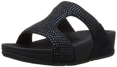 7e8e9cde1 Fitflop Women s Rokkit Slide Wedge Heels Sandals  Amazon.co.uk ...
