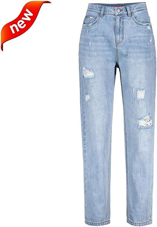 Mujeres Jeans Pantalones De Mezclilla Para Mujer Leggings De Moda Para Ninas Jeans De Agujero De Cintura Alta Para Mujer Ropa De Mujer De Diseno De Cintura Alta Pantalones Sueltos Sexys Y