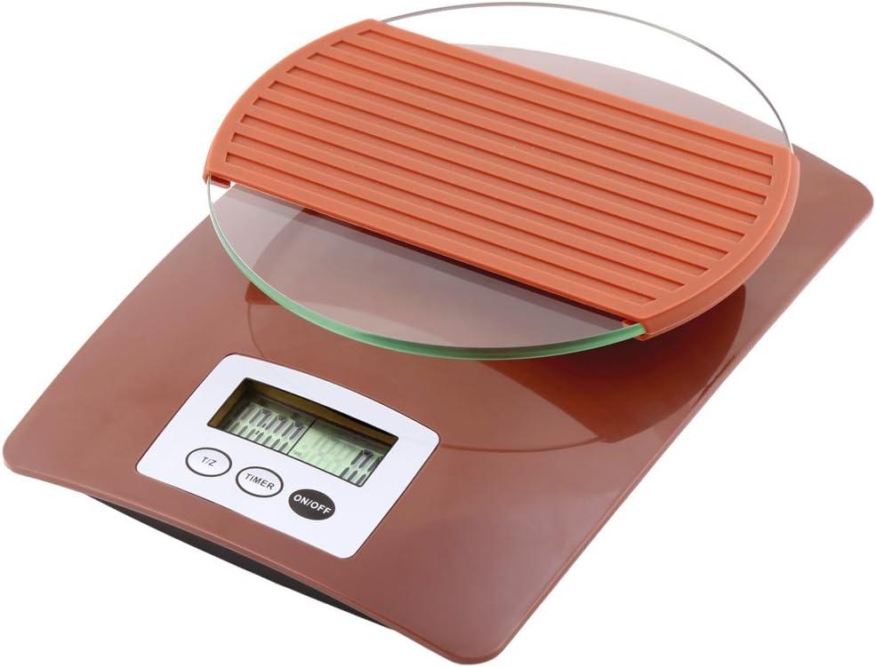 R.g Accessoires de Cuisine Num/érique balance /à caf/é avec 3/kgs pour verser de caf/é Utilisation gris