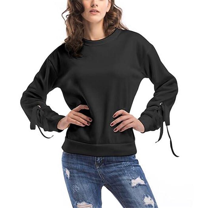 Sudadera De Manga Larga Cuello Redondo Para Mujer Con Sexi Slim T Shirt Blusas Camisas Sweatshirt