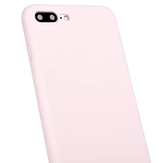 finest selection fe499 57c2e MANLENO iPhone 7 Plus Case, iPhone 8 Plus Case Soft Flexible TPU Full Matte  Cover Case for iPhone 7 Plus 8 Plus 5.5 inch (Baby Pink)
