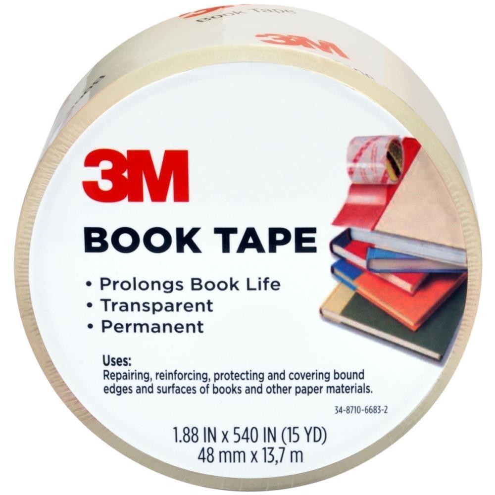 Scotch Book Tape, 2.83 in. x 15 yd., 1 Roll/Pack
