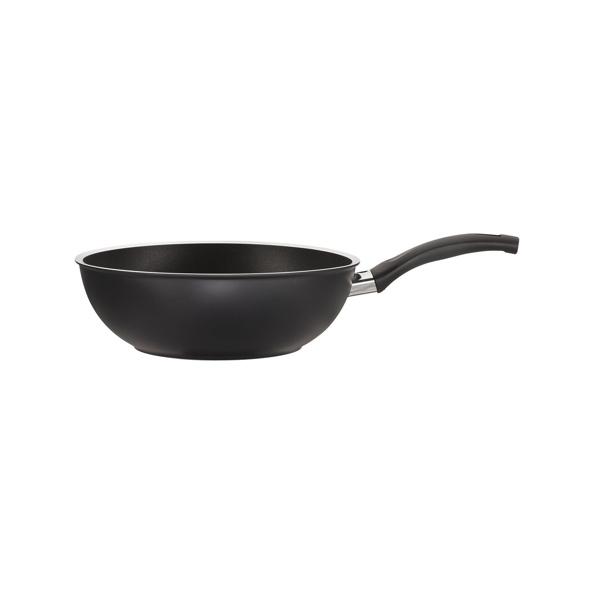 Ballarini 75001-631 Como Forged Aluminum Nonstick Stir Fry Pan, 11'', Black