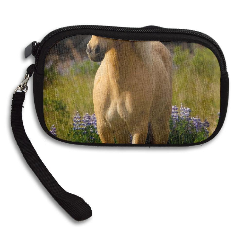 Adorable Horse Deluxe Printing Small Purse Portable Receiving Bag