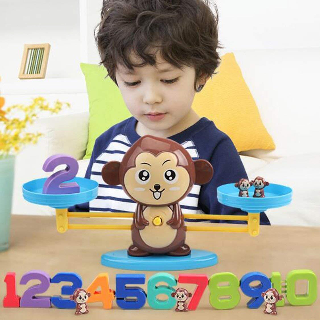 Outils d/éducation de la Petite enfance Singe /Équilibre math/ématique Addition num/érique Comptage Enseignement pour Enfants Family Table Game