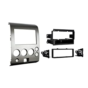 Metra 99-7406 Single DIN/Double DIN Installation Kit for 2004-2006 Nissan Titan and Armada Vehicles without Climate Controls (Gray)