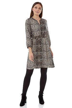 sélection premium 3627c 6da7e Roman Originals Femme Robe Chemise Motif Animal - Automne ...