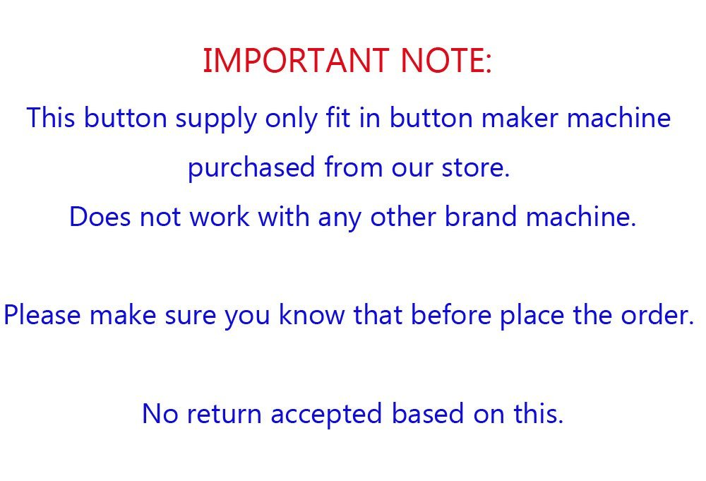 1-1/2'' 37mm 100Sets Pin Badge Button Parts Supplies for Pro Maker Machine by Button Maker (Image #4)