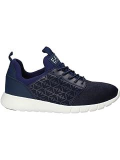 31ad4df13 Emporio Armani EA7 Men's Shoes Trainers Sneakers Black: Amazon.co.uk ...