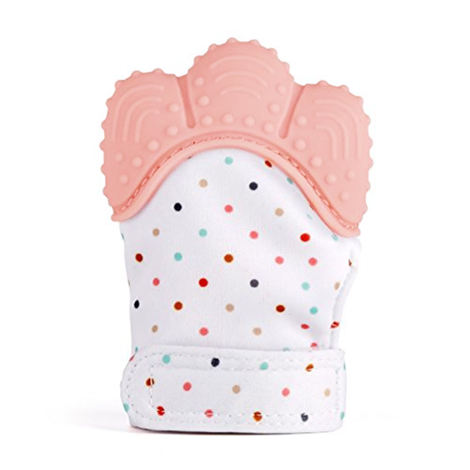 Teething Mitten, SZHSR Baby Self Soothing Teether Mitten BPA Free Teething Pain Relief Toy Wearable for Left & Right Hand for Unisex 2 - 8 Months Babies. (Pink, 1PSC)