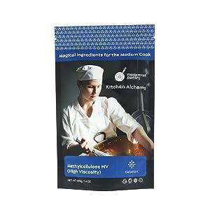 Pure Methylcellulose - High Viscosity ⊘ Non-GMO ☮ Vegan ✡ OU Kosher Certified - 400g/14oz