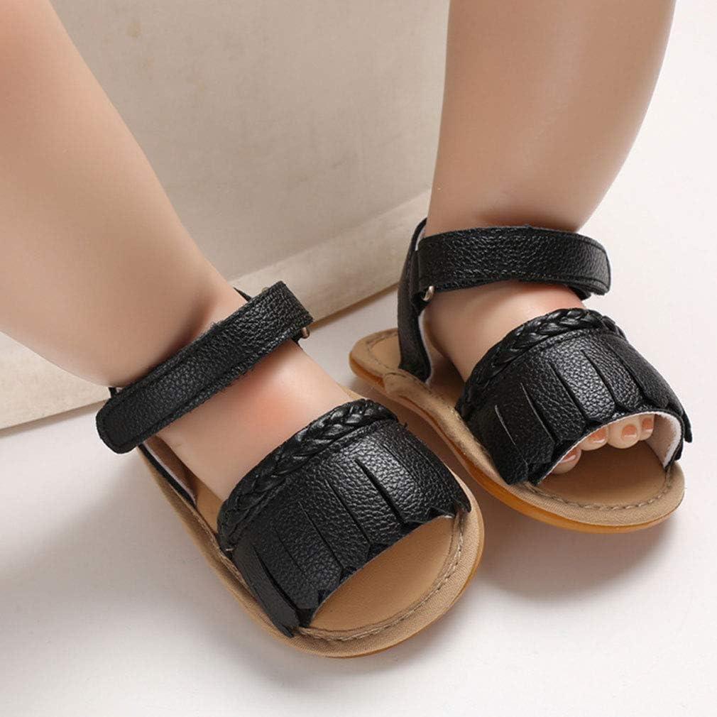 Infant Baby Girls Sandals Anti-Slip Rubber Sole Toddler First Walker Prewalker Newborn Summer Shoes for Baby Girls